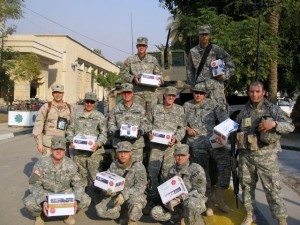 4th Division soldiers say thank-you with smiles